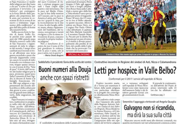 Prima pagina – 23 settembre 2016