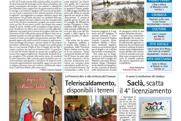 Prima pagina – 23 dicembre 2016