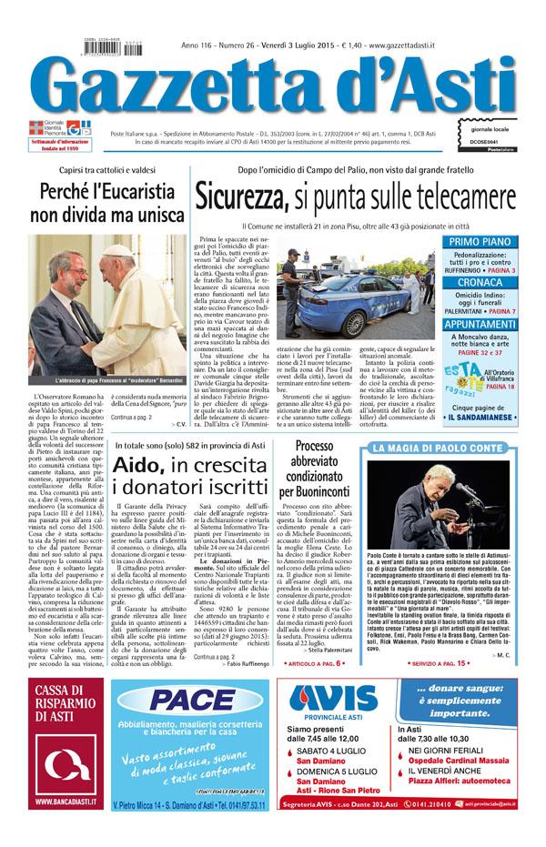 Prima pagina – 3 luglio 2015