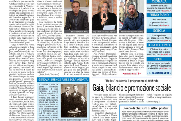 Prima pagina – 3 febbraio 2017