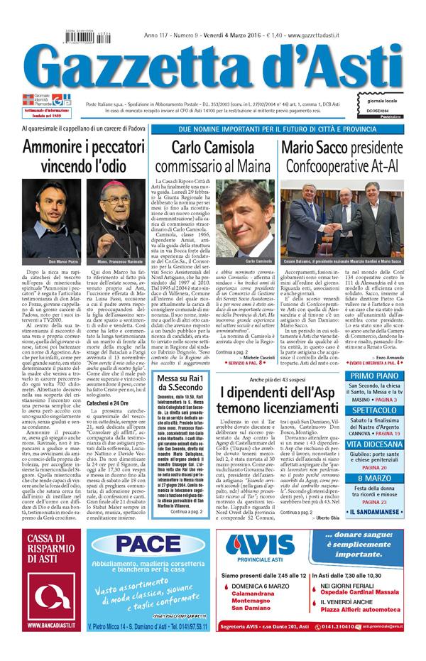 Prima pagina – 4 marzo 2016