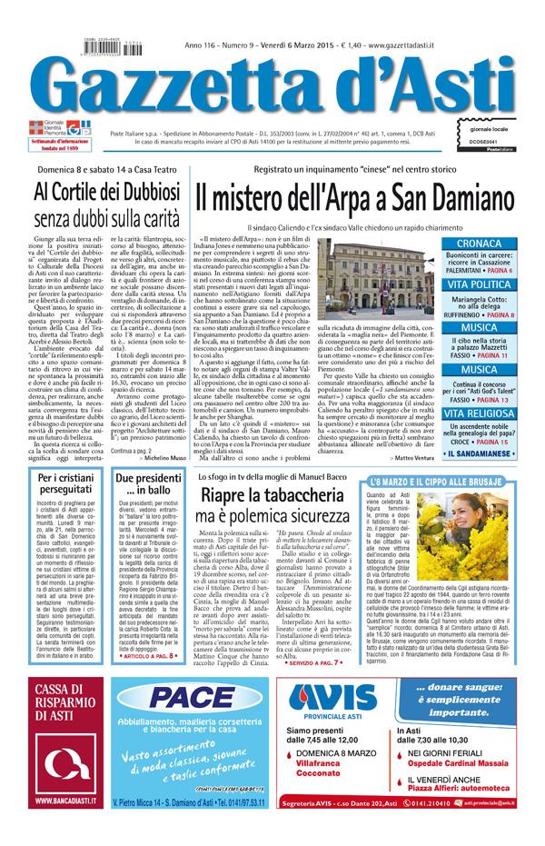 Prima pagina – 6 marzo 2015