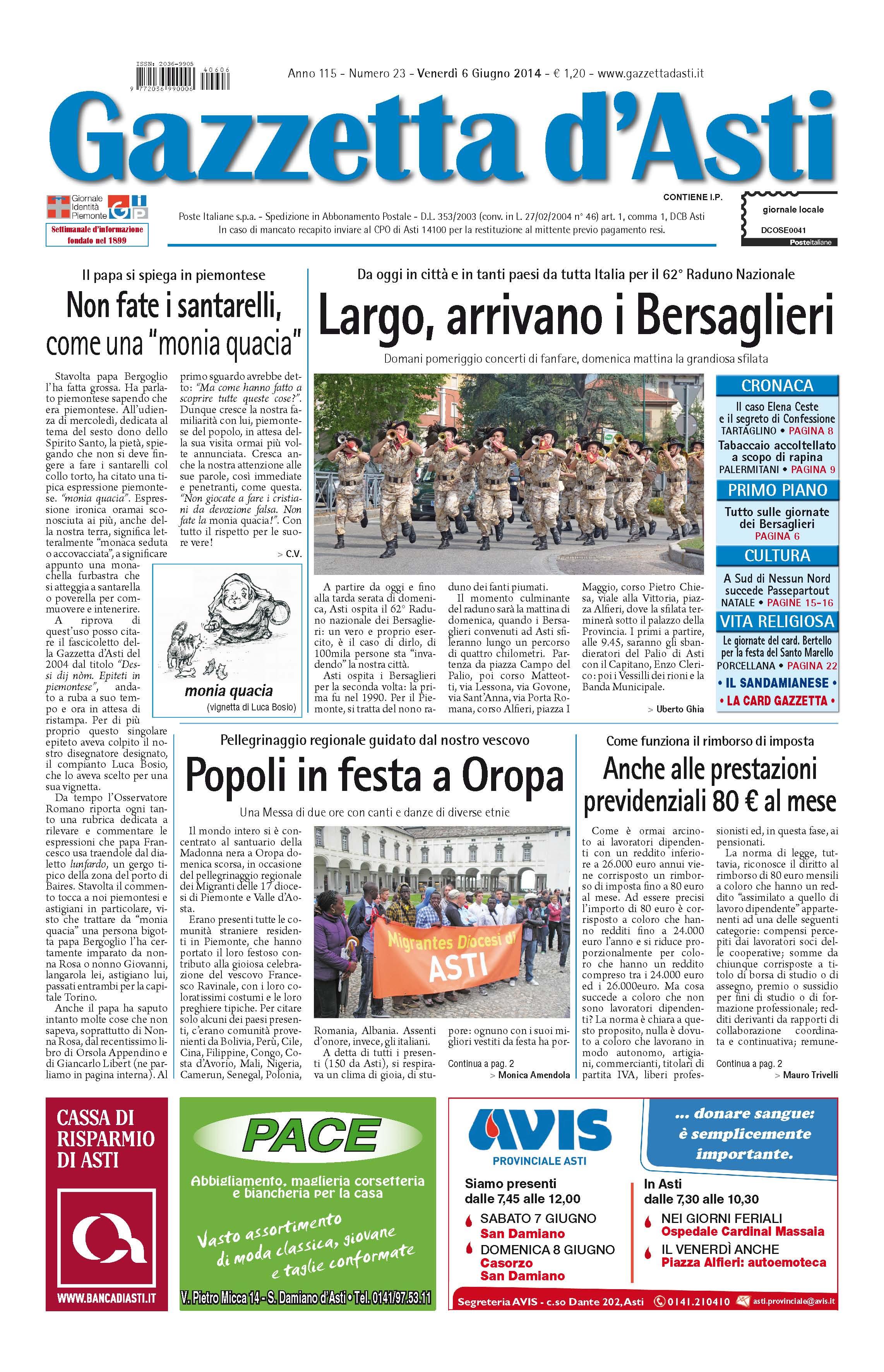 Prima pagina – 6 giugno 2014