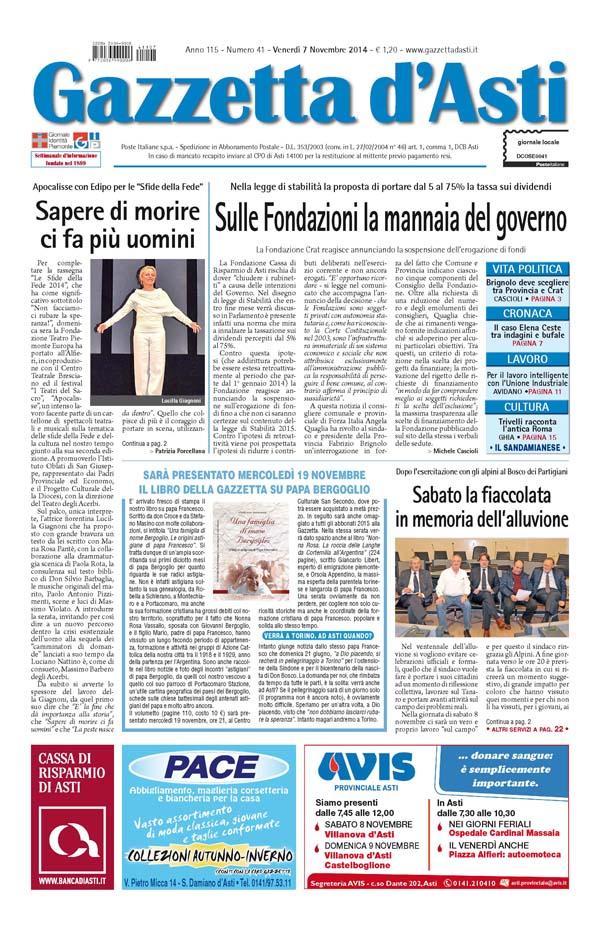 Prima pagina – 7 novembre 2014