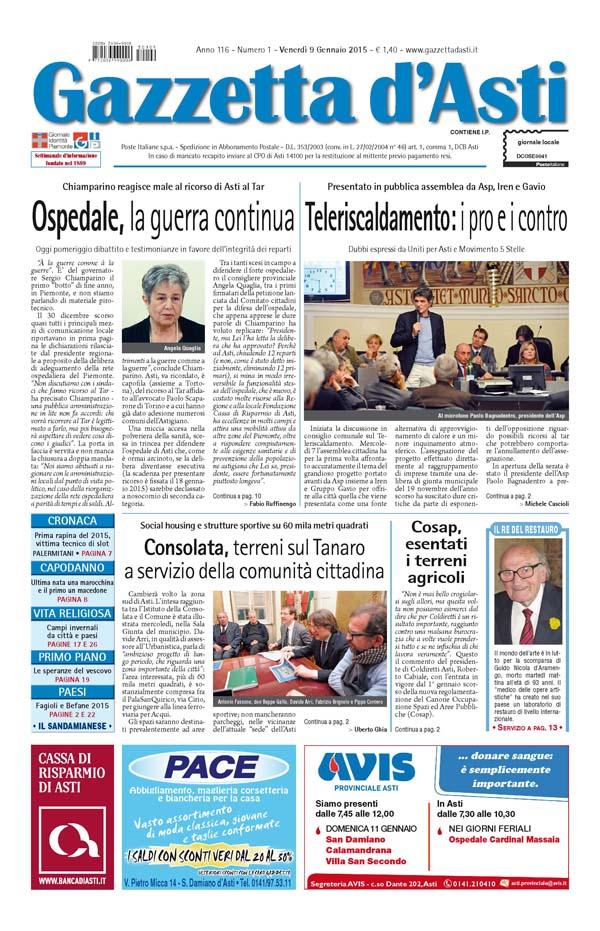 Prima pagina – 9 gennaio 2015