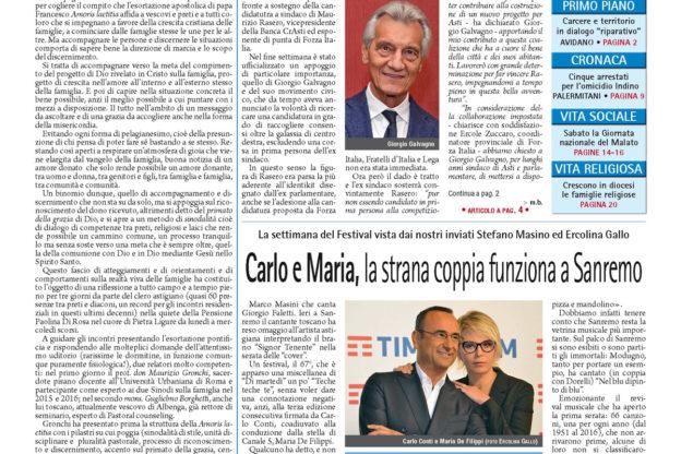 Prima pagina – 10 febbraio 2017