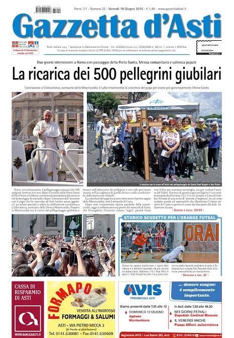 Prima pagina – 10 giugno 2016