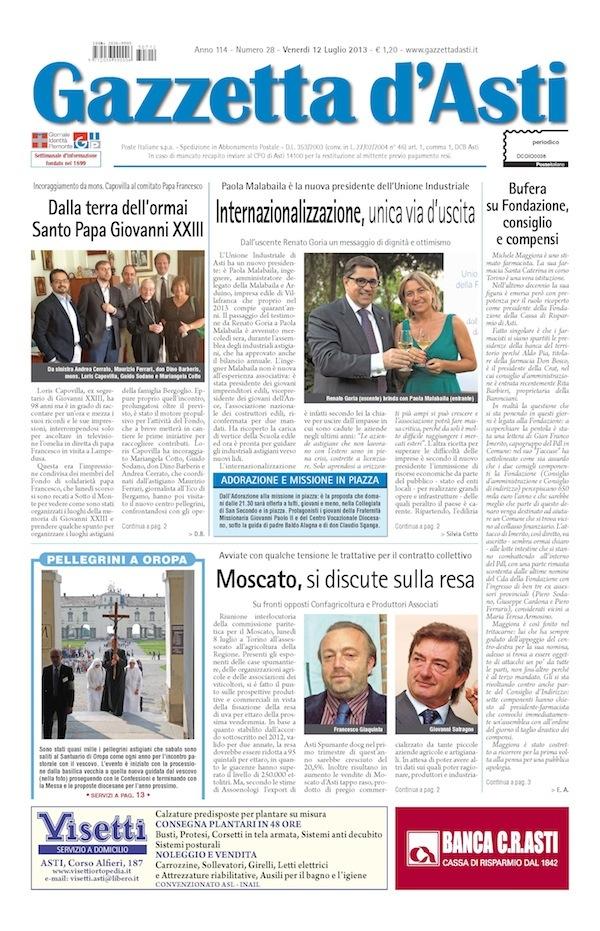 Prima pagina – 12 luglio 2013