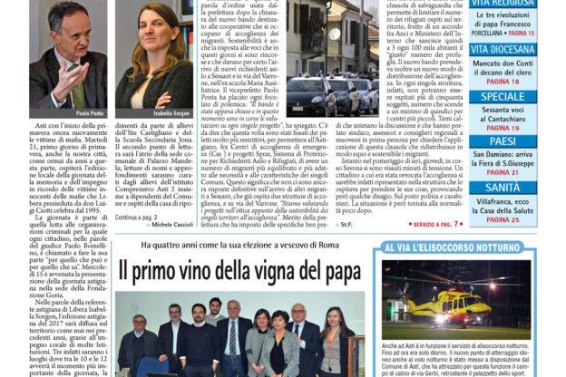 Prima pagina – 17 marzo 2017
