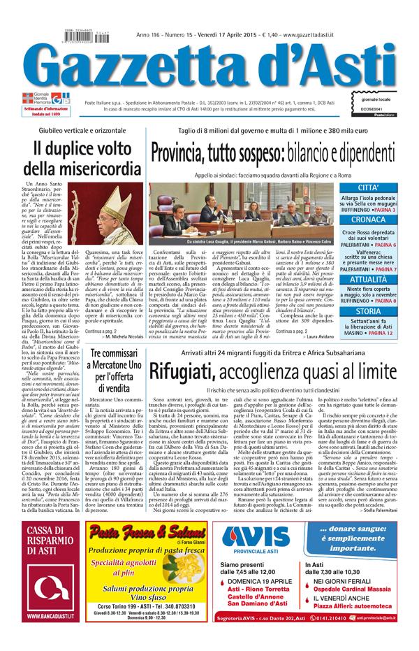 Prima pagina – 17 aprile 2015