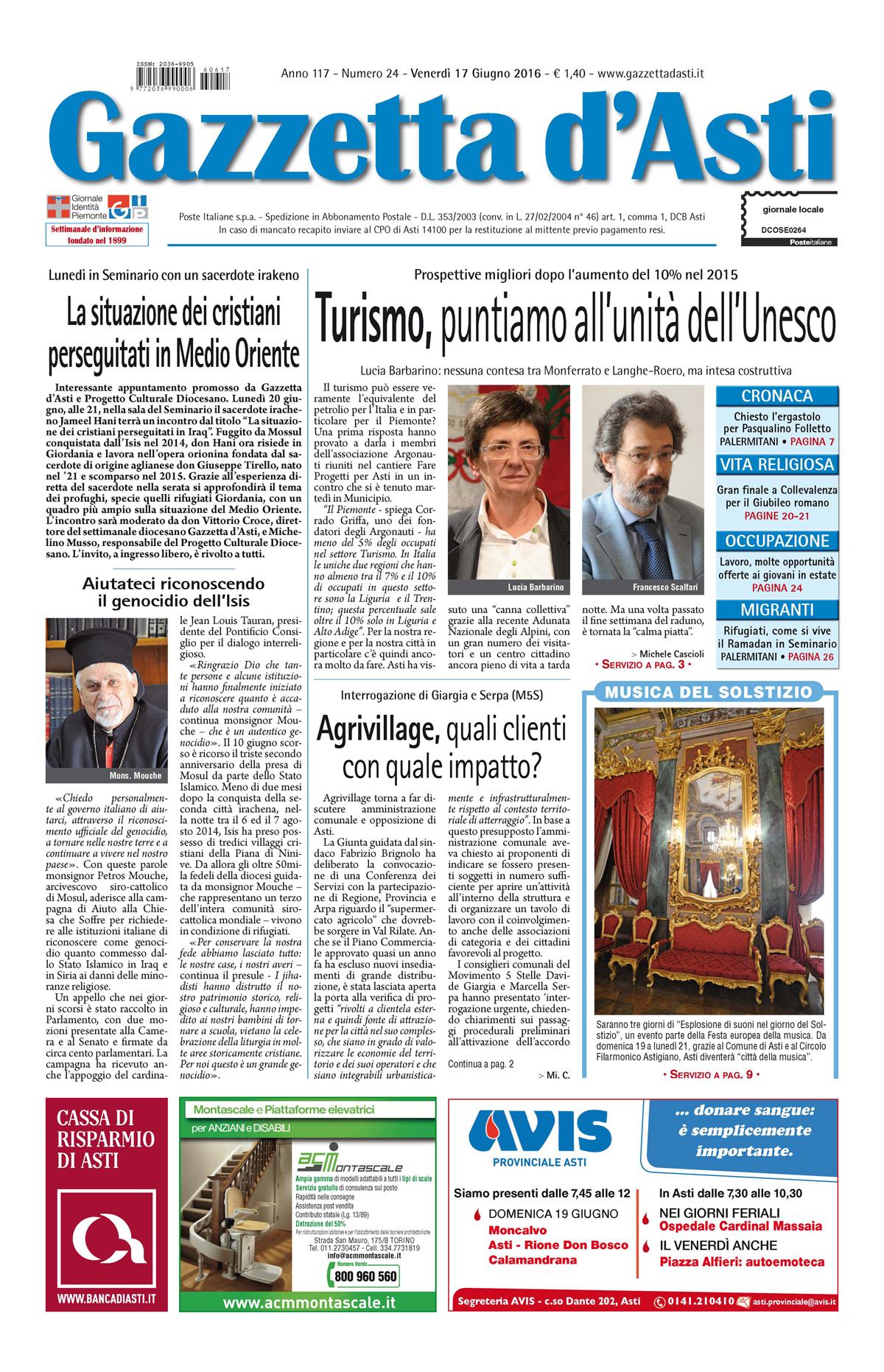 Prima pagina – 17 giugno 2016