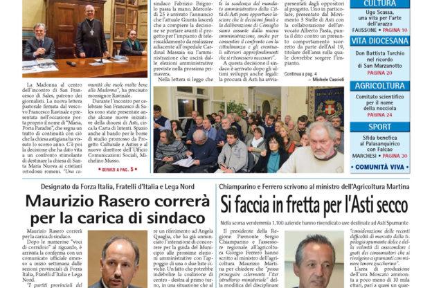 Prima pagina – 20 gennaio 2017