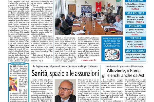 Prima pagina – 24 marzo 2017