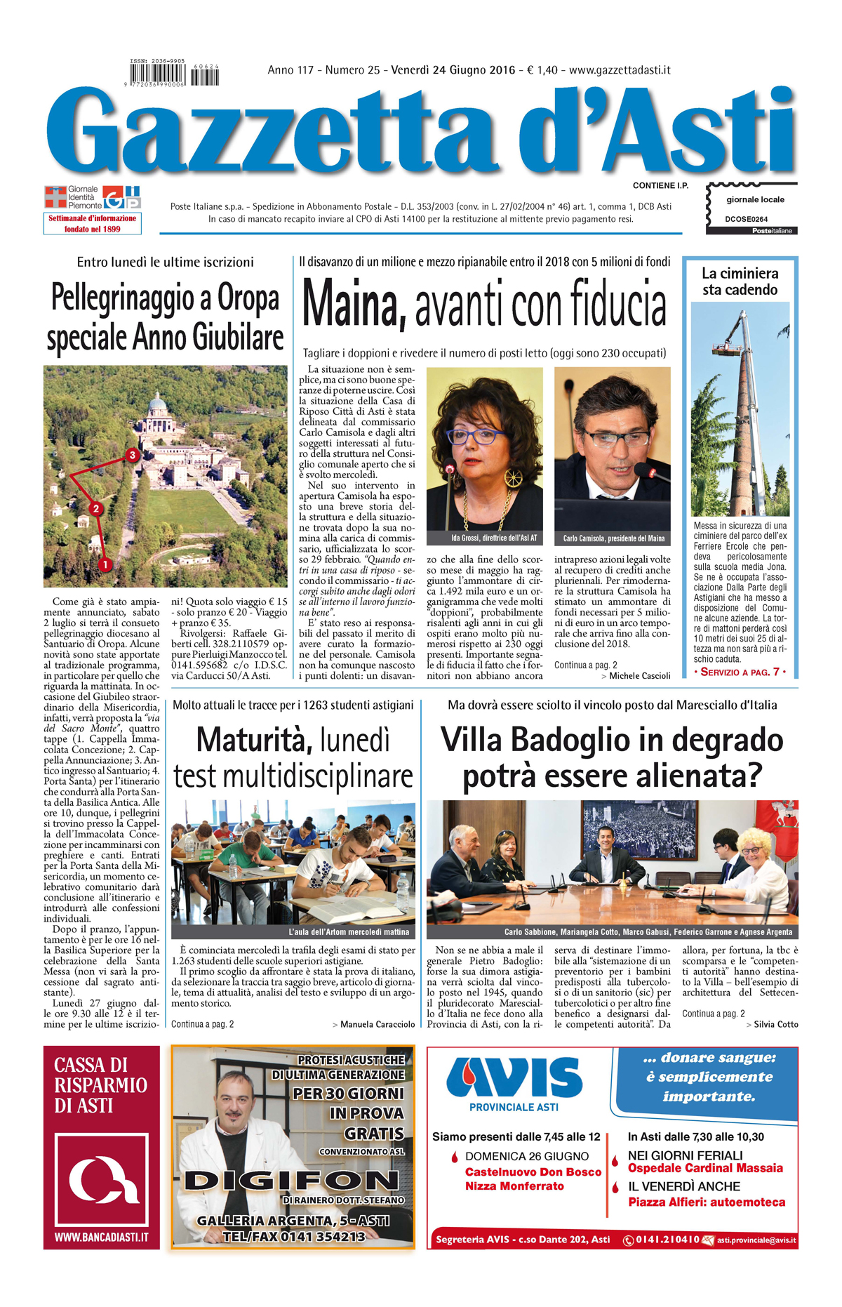 Prima pagina – 26 giugno 2016