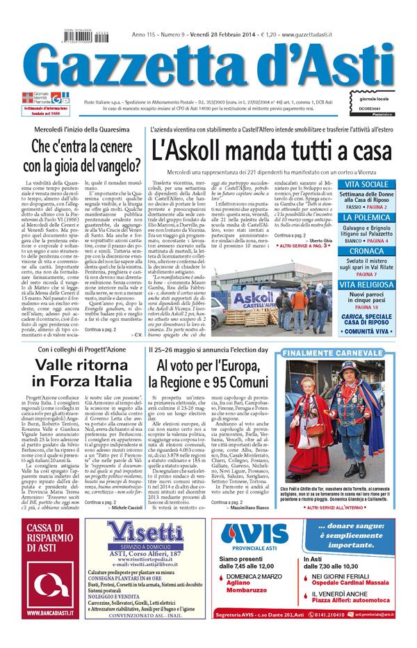 Prima pagina – 28 febbraio 2014