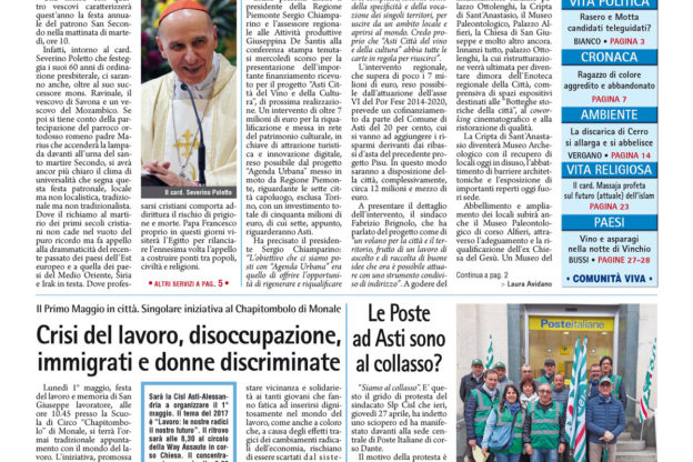 Prima pagina – 28 aprile 2017