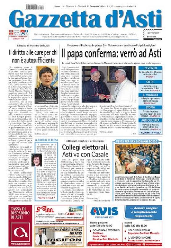 """Il Papa conferma: """"Verrò ad Asti"""""""
