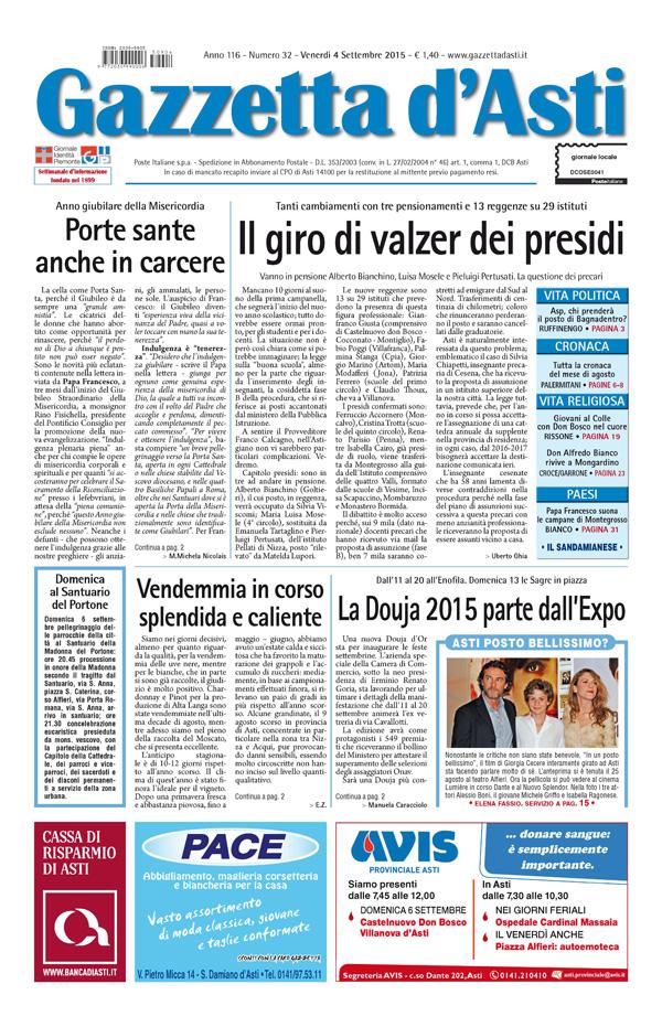 Prima pagina – 4 settembre 2015