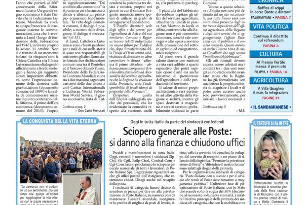 Prima pagina – 4 novembre 2016