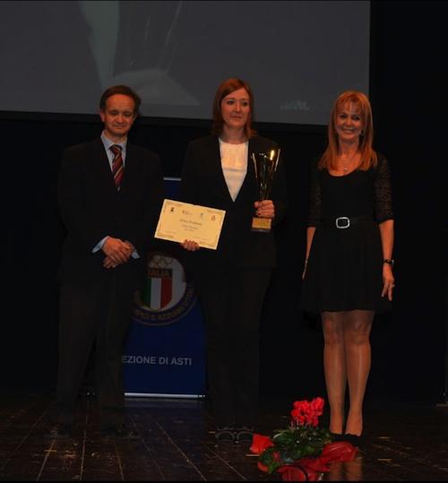 Erica Profumo premiata alla Festa dello Sport di Asti