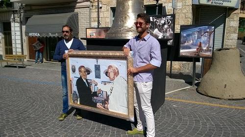 L'astigiano Gerlando Colombo dona opera pop art al Museo internazionale della Campania