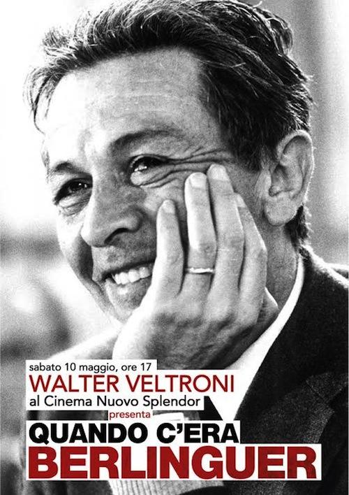 """Walter Veltroni ad Asti per presentare il film """"Quando c'era Berlinguer"""""""