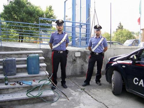 Ladri di gasolio incastrati dai carabinieri