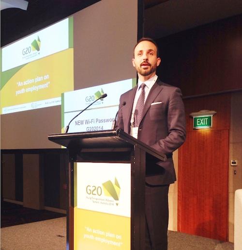 Il giovane industriale astigiano Riccardo Ruscalla al G 20 di Sydney