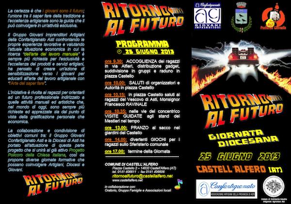 Ritorno al futuro: a Castell'Alfero una giornata dedicata ai giovani e al lavoro