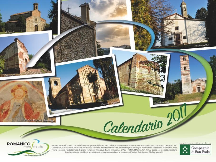 Il Romanico Monferrato diventa un calendario per il 2017