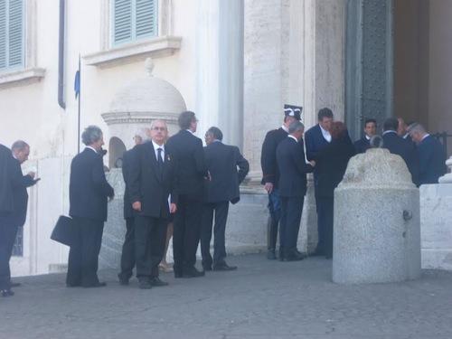 Giovanni Triberti (Unirr) al 25 aprile di Roma