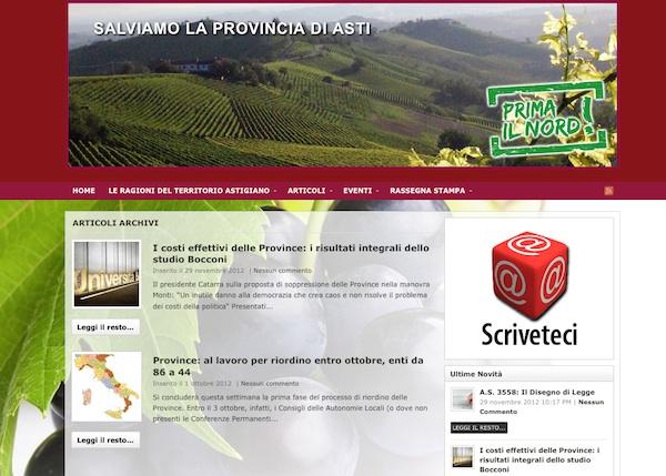 Nasce il sito salviamolaprovinciadiasti.com