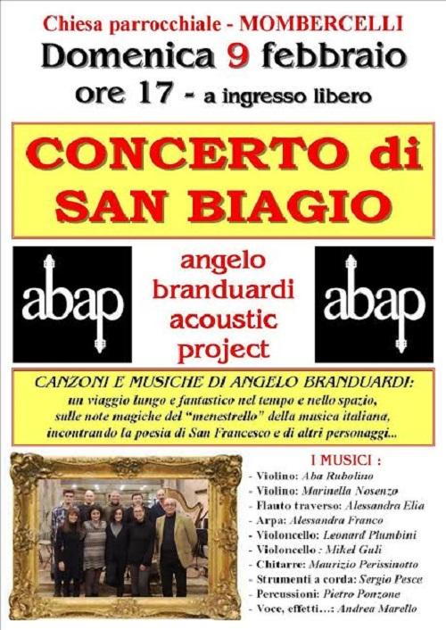 A Mombercelli gli Apab in concerto per San Biagio