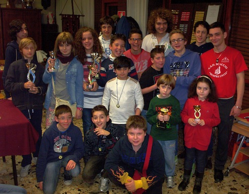 Ai giovani astigiani piace il gioco degli scacchi