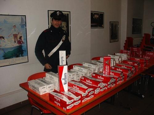 Sequestrati 25 chili di sigarette di contrabbando