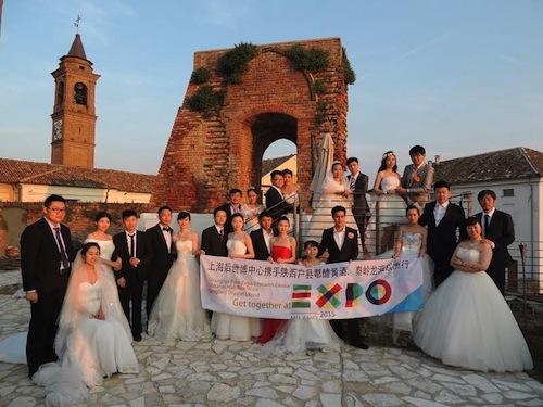 Da Shanghai al Monferrato, sposi cinesi brindano con l'Asti Docg