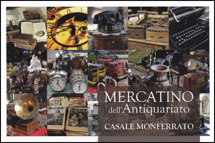 Nel fine settimana Mercatino dell'Antiquariato a Casale Monferrato