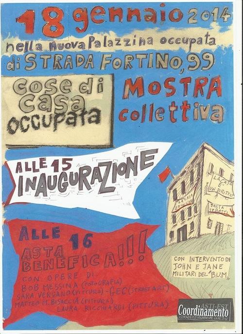 La casa occupata di strada Al Fortino apre agli astigiani