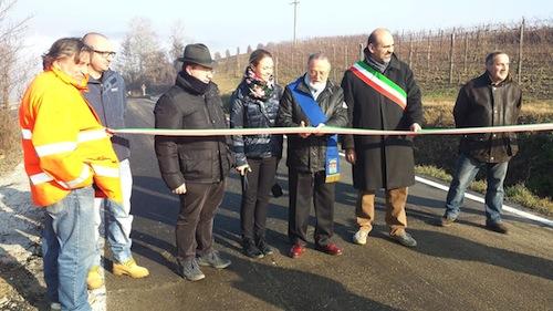 Inaugurato un tratto di strada a Quaranti