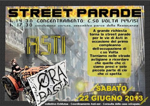 Ad Asti una street parade per il diritto all'abitare