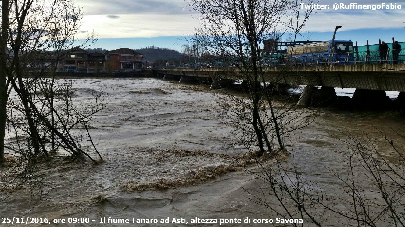 """Maltempo. Brignolo: """"Bene il ponte alto in corso Alessandria"""""""