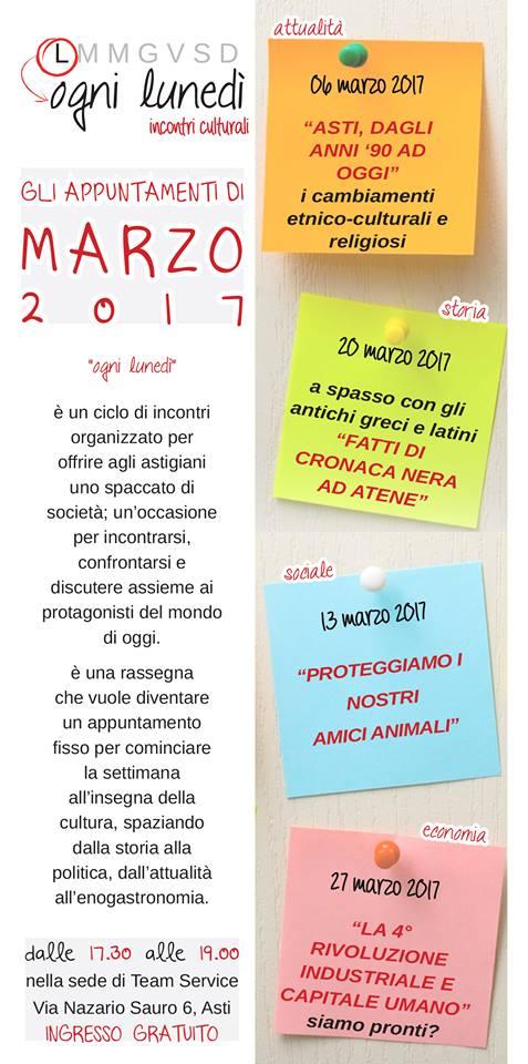 """A """"Ogni Lunedì"""" i cambiamenti culturali e religiosi ad Asti dagli anni '90 a oggi"""
