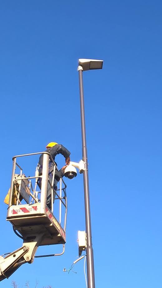 Iniziata l'installazione di 66 nuove telecamere di videosorveglianza