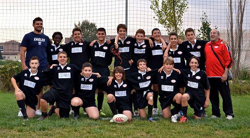 Netta vittoria dell'under 14 Junior Asti Rugby sul Settimo Torino Junior