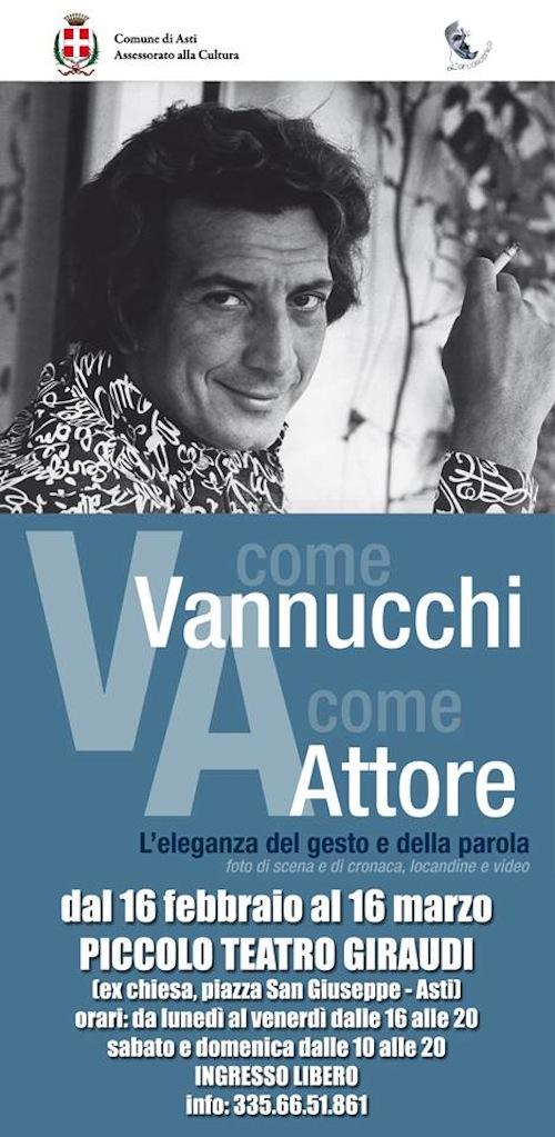 """Al Giraudi la mostra """"V come Vannucchi A come Attore"""""""