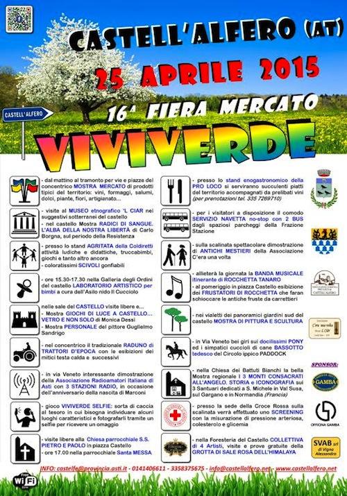 """A Castell'Alfero la nuova edizione di """"Viviverde"""""""