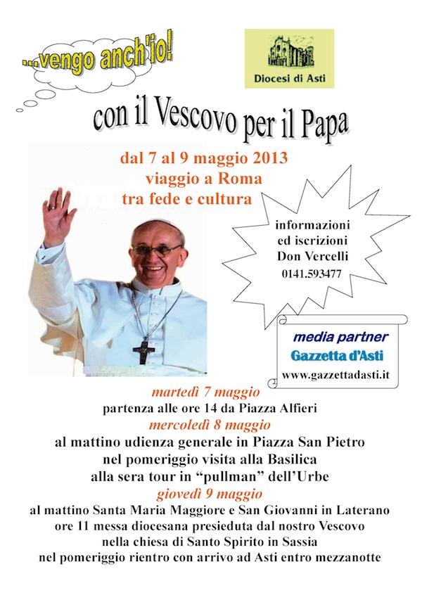 In pellegrinaggio con il vescovo Ravinale per incontrare papa Francesco