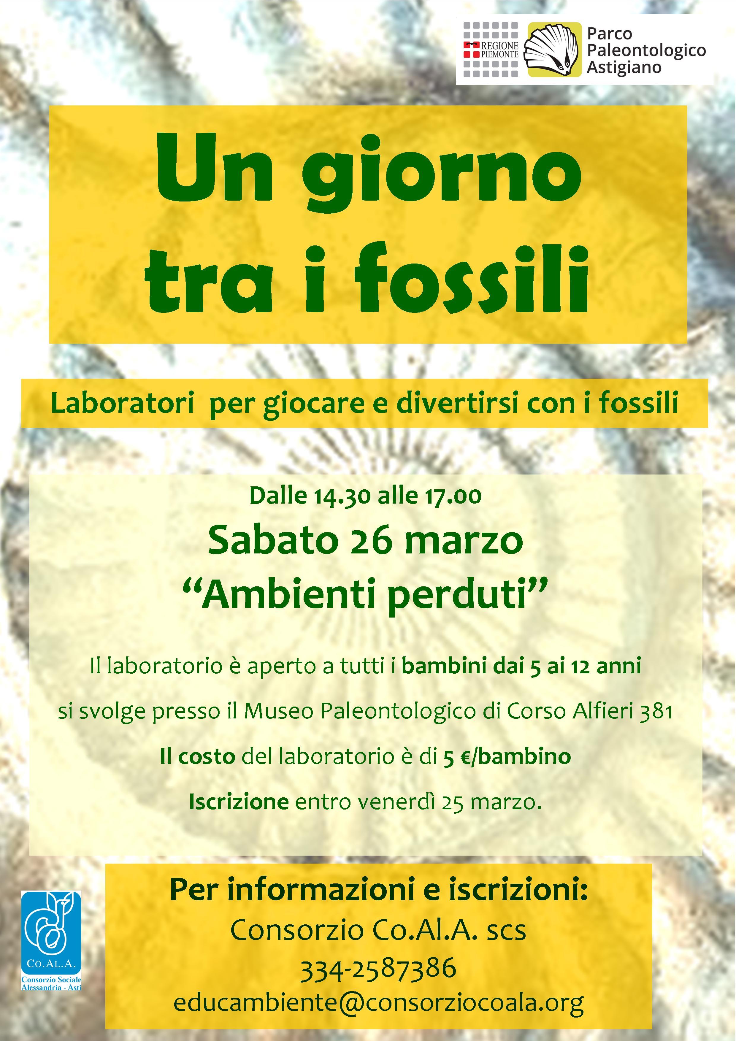 Laboratorio tra i fossili