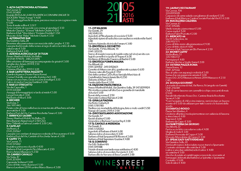 Prosegue Wine Street Tasting ad Asti