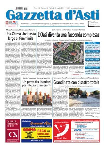 Prima pagina – 28 luglio 2017